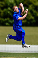 Action between Lindisfarne College and Rosmini College during the Gillette Cup Finals, Hagley Park, Christchurch, New Zealand. 5th December 2019. Photo: John Davidson, www.bwmedia.co.nz
