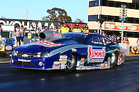 Jul. 26, 2013; Sonoma, CA, USA: NHRA pro stock driver Jason Line during qualifying for the Sonoma Nationals at Sonoma Raceway. Mandatory Credit: Mark J. Rebilas-