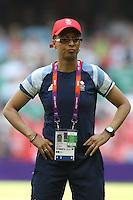 GB Coach Hope Powell - Great Britain Women vs New Zealand Women - Womens Olympic Football Tournament London 2012 Group E at the Millenium Stadium, Cardiff, Wales - 25/07/12 - MANDATORY CREDIT: Gavin Ellis/SHEKICKS/TGSPHOTO - Self billing applies where appropriate - 0845 094 6026 - contact@tgsphoto.co.uk - NO UNPAID USE.
