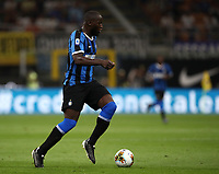 Calcio, Serie A: Inter Milano - Lecce, Giuseppe Meazza stadium, September 26 agosto 2019.<br /> Inter's Romelu Lukaku in action during the Italian Serie A football match between Inter and Lecce at Giuseppe Meazza (San Siro) stadium, September August 26,, 2019.<br /> UPDATE IMAGES PRESS/Isabella Bonotto