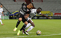 MANIZALES -COLOMBIA, 10-07-2016. Acción de juego entre el Once Caldas   con  Alianza Petrolera  durante encuentro  por la fecha 2 de la Liga Aguila II 2016 disputado en el estadio Palogrande./ Action game between  Once Caldas and Alianza Petrolera  during match for the date 2 of the Aguila League II 2016 played at Palogrande stadium . Photo:VizzorImage / Santiago Osorio / Contribuidor