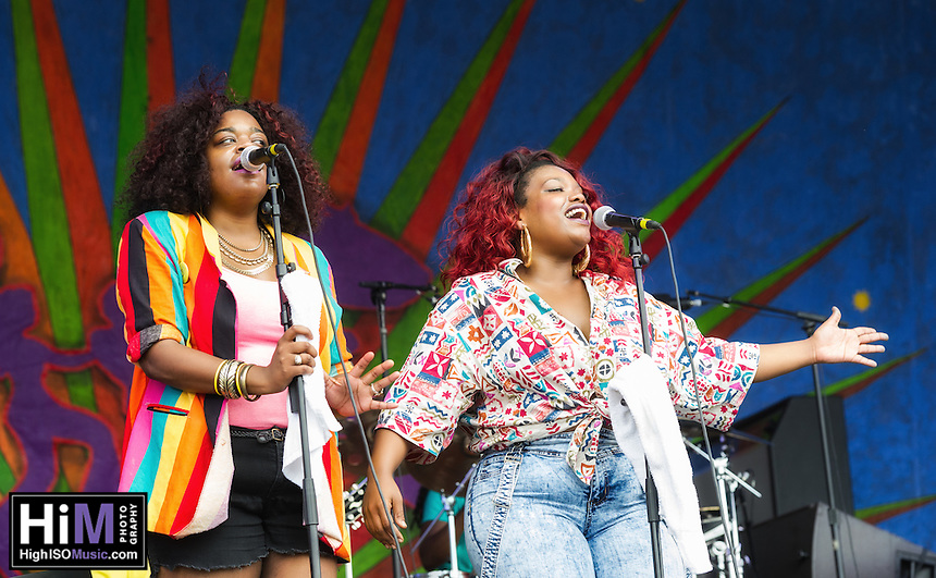 Tank and the Bangas at the 2015 New Orleans Jazz and Heritage Festival.
