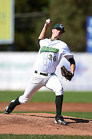 Jamestown Jammers pitcher Tyler Eppler (36) delivers a pitch during a game against the Mahoning Valley Scrappers on June 15, 2014 at Russell Diethrick Park in Jamestown, New York.  Jamestown defeated Mahoning Valley 9-4.  (Mike Janes/Four Seam Images)