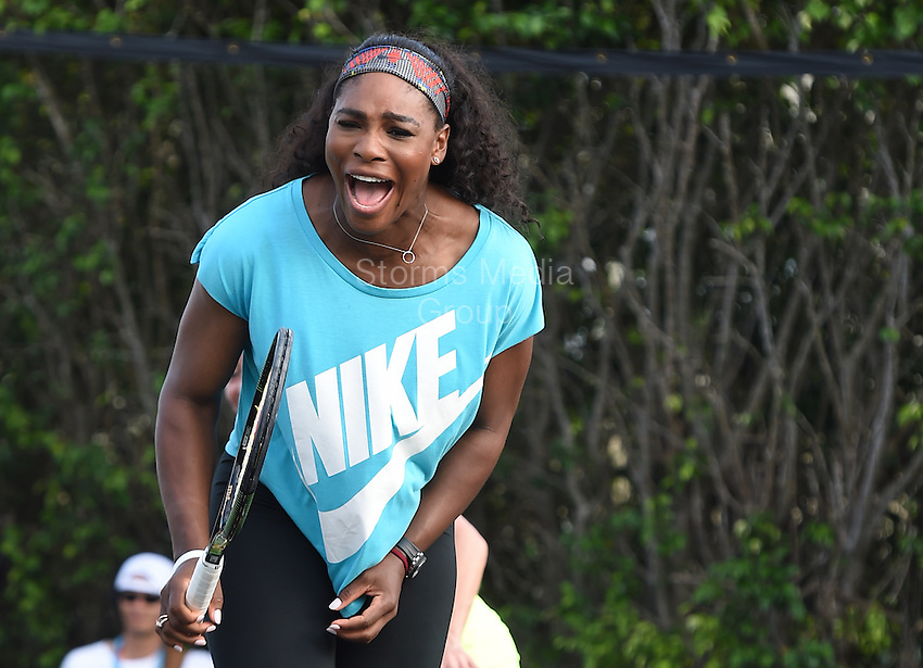 KEY BISCAYNE, FL - MARCH 24: Serena Williams at the Sixth Annual Ritz-Carlton Key Biscayne, Miami All-Star Charity Tennis Event at the Ritz Hotel on March 24, 2014 in Key Biscayne, Florida.<br /> <br /> <br /> People:  Serena Williams<br /> <br /> Transmission Ref:  FLXX<br /> <br /> Must call if interested<br /> Michael Storms<br /> Storms Media Group Inc.<br /> 305-632-3400 - Cell<br /> 305-513-5783 - Fax<br /> MikeStorm@aol.com
