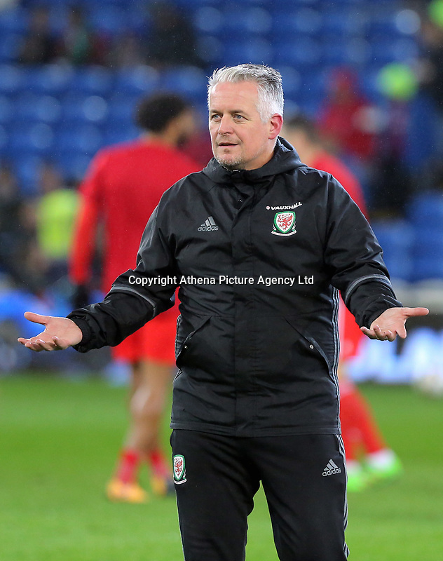 during the international friendly soccer match between Wales and Panama at Cardiff City Stadium, Cardiff, Wales, UK. Tuesday 14 November 2017.
