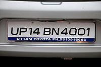 India, Rishikesh.  Automobile License Plate.