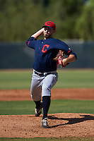 Cleveland Indians pitcher Christian Meister (57) during an instructional league game against the Milwaukee Brewers on October 8, 2015 at the Maryvale Baseball Complex in Maryvale, Arizona.  (Mike Janes/Four Seam Images)