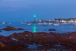 Evening over Marblehead Harbor in Marblehead, Massachusetts, USA