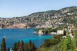 Frankreich, Provence-Alpes-Côte d'Azur, Villefranche-sur-Mer: Ausblick ueber die Bucht von Villefranche-sur-Mer | France, Provence-Alpes-Côte d'Azur, Villefranche-sur-Mer: view across bay Villefranche-sur-Mer