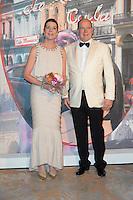 S.A.R. la Princesse Caroline de Hanovre, S.A.S. le Prince Albert de Monaco<br /> Bal de la Rose 2016 imagine par Karl Lagerfeld,Soiree Cuba donnee au profit de la Fondation Princesse Grace