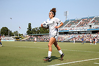 CARY, NC - SEPTEMBER 12: Angela Salem #36 of the Portland Thorns FC carries the ball to the corner during a game between Portland Thorns FC and North Carolina Courage at Sahlen's Stadium at WakeMed Soccer Park on September 12, 2021 in Cary, North Carolina.