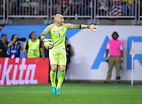 Houston, TX - Tuesday June 21, 2016: Brad Guzan during a Copa America Centenario semifinal match between United States (USA) and Argentina (ARG) at NRG Stadium.