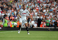 Pictured: Angel Rangel of Swansea City in action. Saturday 10 September 2011<br />
