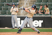 Donnie Webb #26 of the Lake County Captains follows through on his swing versus the Kannapolis Intimidators at Fieldcrest Cannon Stadium May 3, 2009 in Kannapolis, North Carolina. (Photo by Brian Westerholt / Four Seam Images)