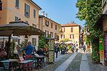 Italy, Piedmont, Orta San Giulio: café and restaurant in old town | Italien, Piemont, Orta San Giulio: Café und Restaurant in der Altstadt