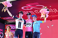 27th May 2018, Giro D italia; stage 21 Roma to Roma; Team Sky; Froome, Christopher; Tom Doumoulin and Miguel Angel Lopez