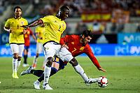 Cristian Eduardo Zapata of Colombia competes for the ball with Alvaro Morata of Spain during the friendly match between Spain and Colombia at Nueva Condomina Stadium in Murcia, jun 07, 2017. Spain. (ALTERPHOTOS/Rodrigo Jimenez) (NortePhoto.com) (NortePhoto.com)