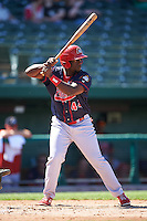 Peoria Chiefs right fielder Bladimil Franco (44) at bat during the second game of a doubleheader against the South Bend Cubs on July 25, 2016 at Four Winds Field in South Bend, Indiana.  South Bend defeated Peoria 9-2.  (Mike Janes/Four Seam Images)