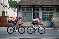 breakaway duo of the day: Greg Van Avermaet (BEL/AG2R Citroën) & Roger Kluge (DEU/Lotto Soudal)<br /> <br /> Stage 6 from Tours to Châteauroux (160km)<br /> 108th Tour de France 2021 (2.UWT)<br /> <br /> ©kramon