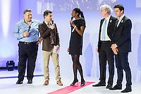 ANGELO PARISI (JUDO) ENTRAINEUR, LAURENT LUYAT, MARIE JOSE PEREC, TONY ESTANGUET - OPERATION J-100 DES JEUX OLYMPIQUES DE RIO AU PALAIS DE CHAILLOT