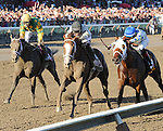 Will Take Charge (no. 5), ridden by Luis Saez and trained by D. Wayne Lukas, wins the 144th running of the grade 1 Travers Stakes for three year olds on August 24, 2013 at Saratoga Race Course in Saratoga Springs, New York.  (Bob Mayberger/Eclipse Sportswire)