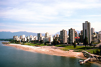 Vancouver: English Bay/West end from Burrard Bridge.  Photo '86.