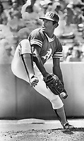 Blue a red? Cincinnati Reds have agreed to pay Oakland A's $1 million or more for left-handed pitcher Vida Blue, three times a 20-game winner, but baseball commissioner Bowie Kuhn plans meeting next week to review the deal.<br /> <br /> Bezant, Graham<br /> Picture, 1977<br /> <br /> 1976<br /> <br /> PHOTO : Graham Bezant - Toronto Star Archives - AQP