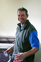 pinot noir Damien Gachot-Monot taking a tank sample owner dom gachot-monot nuits-st-georges cote de nuits burgundy france