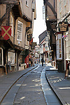 Great Britain, England, Yorkshire, York: View along The Shambles in the Old Town