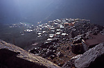 Village of Aroumd (1900 m) at the foot of Djebel Toubkal (4167 m), High Atlas, Morocco, 2017