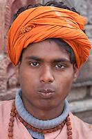 Pashupatinath, Nepal.  Young Sadhu (Holy Man) at Nepal's Holiest Hindu Temple.