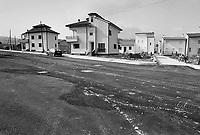 - reconstruction in Irpinia after the earthquake of 1980, popular houses in Lioni village....- ricostruzione in Irpinia dopo il terremoto del 1980, case popolari nel paese di Lioni