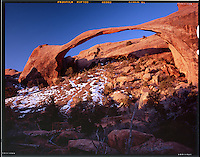 """Sunrise at Landscape Arch""<br />