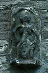 Sheela-na-gig, All Saints Church, Oaksey, Gloucestershire England. Celtic Britain published by Orion