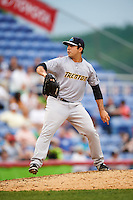 Trenton Thunder starting pitcher Daniel Camarena (13) during a game against the Binghamton Mets on May 29, 2016 at NYSEG Stadium in Binghamton, New York.  Trenton defeated Binghamton 2-0.  (Mike Janes/Four Seam Images)