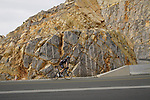 Mark Donovan (GBR) Team DSM climbs the final 4km of Jais Mountain during Stage 5 of the 2021 UAE Tour running 170km from Fujairah to Jebel Jais, Ras Al Khaimah, UAE. 25th February 2021.  <br /> Picture: Eoin Clarke   Cyclefile<br /> <br /> All photos usage must carry mandatory copyright credit (© Cyclefile   Eoin Clarke)