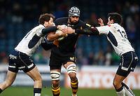 Photo: Richard Lane/Richard Lane Photography. London Wasps v Rugby Mogliano. Amlin Challenge Cup. 12/01/2013. Wasps' Marco Wentzel attacks.