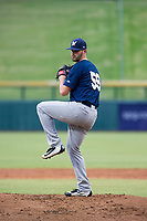 AZL Brewers starting pitcher Chase Williams (59) gets ready to deliver a warmup pitch during a game against the AZL Cubs on August 1, 2017 at Sloan Park in Mesa, Arizona. Brewers defeated the Cubs 5-4. (Zachary Lucy/Four Seam Images)