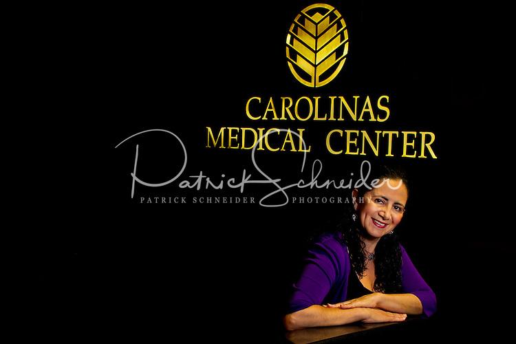 Carolinas Medical Center translator Isa Schiappacasse-Deputy. She is from Chile; grew up in Brazil. ..Photography by: PatrickSchneiderPhoto.com