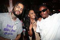 NEW YORK, NY- SEPTEMBER 12: Dave East, Lala Anthony and Joey Badass pictured at Swizz Beatz Surprise Birthday Party at Little Sister in New York City on September 12, 2021. Credit: Walik Goshorn/MediaPunch