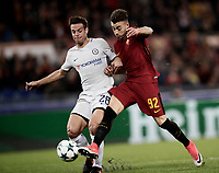 Football Soccer: UEFA Champions League AS Roma vs Chelsea Stadio Olimpico Rome, Italy, October 31, 2017. <br /> Roma's Stephan El Shaarawy (r) scores their second goals during the Uefa Champions League football soccer match between AS Roma and Chelsea at Rome's Olympic stadium, October 31, 2017.<br /> UPDATE IMAGES PRESS/Isabella Bonotto