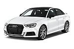 2017 Audi S3 Premium-Plus 4 Door Sedan Angular Front stock photos of front three quarter view