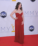 Kat Dennings at The 64th Anual Primetime Emmy Awards held at Nokia Theatre L.A. Live in Los Angeles, California on September  23,2012                                                                   Copyright 2012 Hollywood Press Agency
