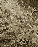 historical aerial photograph St. Helena, California, 1948