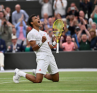5th July 2021, Wimbledon, SW London, England; 2021 Wimbledon Championships, day 7; Felix Auger Aliassime , Canada