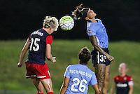 Piscataway, NJ - Saturday July 23, 2016: Joanna Lohman, Tasha Kai during a regular season National Women's Soccer League (NWSL) match between Sky Blue FC and the Washington Spirit at Yurcak Field.