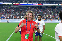 LAS VEGAS, NV - AUGUST 1: Kevin Shank of the United States during a game between Mexico and USMNT at Allegiant Stadium on August 1, 2021 in Las Vegas, Nevada.