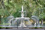The Forsyth fountain in Forsyth Park  in Savannah, GA, USA