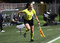 BOGOTÁ - COLOMBIA, 24-09-2020: Mary Blanco, referee asistente 1.Fortaleza CEIF y Deportes Quindio en partido de  ida de la segunda ronda de clasificación de la Copa Betplay DIMAYOR  jugado en el estadio Meropolitano de Techo de la ciudad de Bogotá. / <br /> Mary Blanco, assistant referee 1.Fortaleza CEIF and Deportes Quindio in the first leg of the second qualifying round of the DIMAYOR Betplay Cup played at the Metropolitano de Techo  stadium in the city of Bogota. Photo: VizzorImage / Felipe Caicedo/ Staff