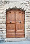 Europe, Italy, Tuscany, San Gimignano, Midieval Doorway